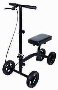 Knee Walker Scooter Leg Crutch Steerable Turning Folding KD Sit Kneel Kneeling