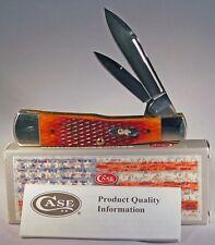 CASE XX Checkered Chestnut Bone Gunstock Stainless Pocket Knives Knife