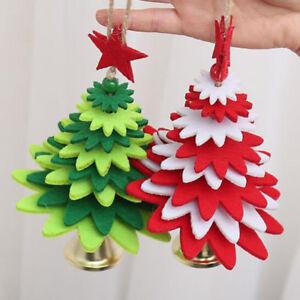 Christmas Tree Shape Wind Chimes Felt Cloth Tree Pendant DIY Decor Door YI