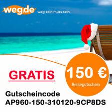 GRATIS 150€ weg.de Gutschein Reisegutschein Flug Hotelgutschein Lastminute