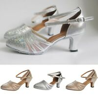 Women's Ballroom Tango Latin Salsa Dancing Sequins Shoes Social Dance Shoes
