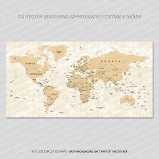 World Atlas - Map - Wall Sticker Decal - 1077mm x 560mm - SKU5930