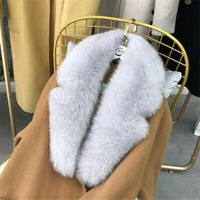 Winter 100% Real Fox Fur Collar Scarf Warm Suit Collar Women Scarves Shawl Wraps