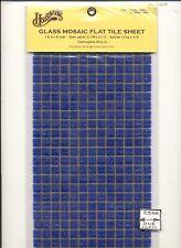 Ceramic Dark Blue Mosaic Tile Sheet miniature floor #8218  1/12 Scale Houseworks