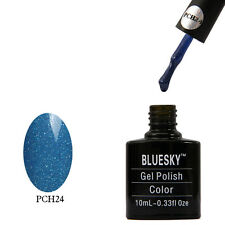 Bluesky PCH24 Blue Sparkle - UV LED Gel Soak off Nail Polish 10ml