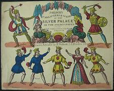 Pollock's c.1870 Juvenile Toy Theatre Silver Palace Litho Hand Coloured Original