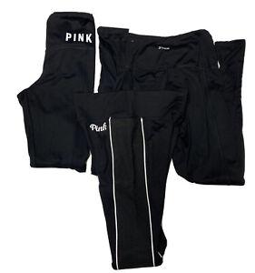 Victoria's Secret Pink Ultimate Yoga Pants Leggings Lot Of 3 Women's XS Black