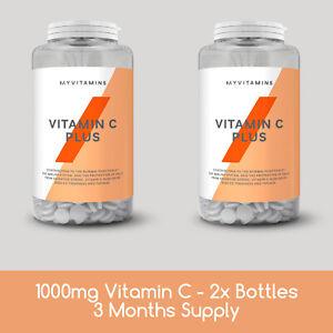1000mg Vitamin C Tablet + Bioflavonoids Rosehip - 2x 60 Cap Bottles