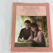 This I Believe Janice Kapp Perry Piano Vocals Sheet Music Songs Mormon Lundberg