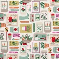 Clarke and Clarke Gardening Spring Design Curtain Upholstery Craft Fabric