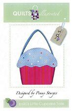 LITTLE CUPCAKE TOTE Quilts Illustrated Penny Sturges  Purse Pattern NEW