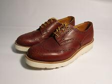 Trickers England UK 7.5 Men's 8 8.5 Brown Leather Wingtips Brogues Derbies Wedge