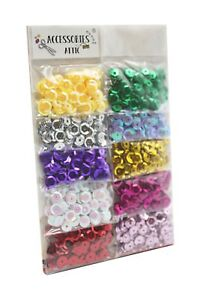 5000+ Round Cupped Sequins Sewing Craft Confetti Mix Colours Confetti Trimmings