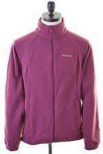 COLUMBIA Mens Fleece Jacket Size 42 Large Purple Polyester  GP15