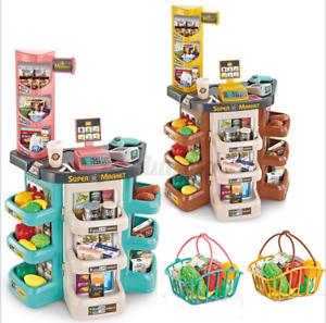 Supermarkt Kinder Spielzeug Laden Zubehör Einkaufswagen Licht Sound Scanner
