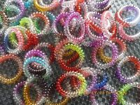 Bracelets ressorts chouchou cheveux fil téléphone bracelet femme enfant X 6