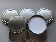 10 New Anchor Hocking Brushed Aluminum Replacement Lids, Cookie Jar Lid, Crafts
