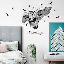 Owl Bird Silhouette Room Home Decor Removable Wall Stickers Decals Decoration