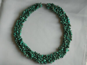 """BEAUTIFUL CORAL TURQUOISE MULTI STRAND NECKLACE WITH STERLING SILVER CATCH ~ 19"""""""