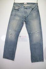 levi's 501 destroyed (Cod. M1515) tg50 W36 L32  jeans usato vintage