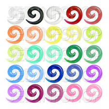 Ear Taper Stretcher - Spiral Snail | 1.6mm-10mm | Acrylic Pair - 25 Colours