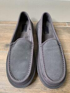 NEW UGG Australia Loafer Dex Black Suede Sheepskin Slip On 1103901 Mens Size 9