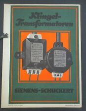 Vintage 1925 Gebrauchsgraphik Siemens-Schuckert Walter Nehmer Small Advt' Poster