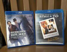 SHERLOCK HOLMES (Robert Downey Jr & Jude Law) & MEMENTO Blu-Rays - Used