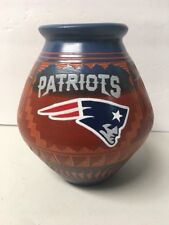 Native American Indian Navajo New England Patriots Etched Pottery Stunning # N1