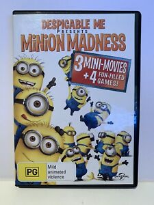 Despicable Me Presents Minion Madness DVD 2013 Rated PG Region 4 Australia