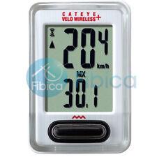 New Cateye Velo VT210 Wireless Speedometer Cycling Bike Computer White