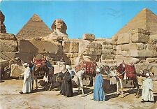 BG14099 camel types folklore giza the great sphinx and keops pyramid egypt