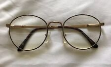 STREET DESIGNS Womens Gold Round Glasses 49-20-130 Korea