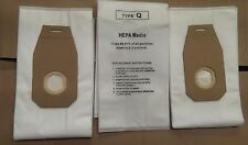 3 Pk. Hoover Style Q AH10000 Platinum UH30010COM HEPA Filtration Vacuum Bags