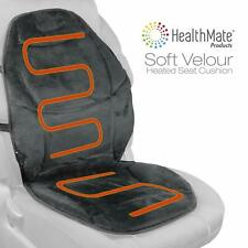 HealthMate IN9438 Velour 12V Heated Seat Cushion with Lumbar Support Heating Car