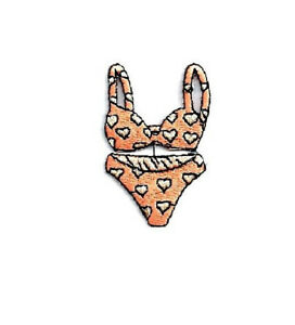 Bathing Suit - Bikini - Swimming - Summer - Embroidered Iron On Patch - P