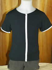 REPETTO Fille 6 8 ans superbe haut top tee shirt manches courtes noir et blanc