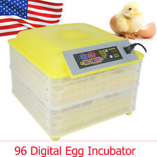 96 Digital Egg Incubator Hatcher Temperature Control Automatic Turning Chicken