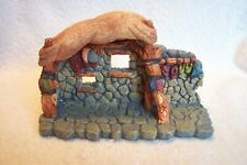 "Stone Nativity Creche Stable 8"" Wide 4"" Tall, Creche Only, No Figures See Pics"