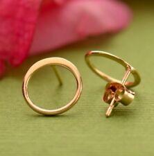 Simple Minimalist Rose Gold Vermeil Small Open Circle Stud Studs Post Earrings