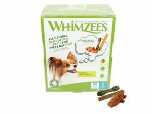 Whimzees Small Variety Box- Natural Dental Dog Treats-  Small 56 pieces