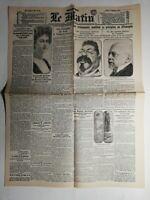 N453 La Une Du Journal Le Matin 6 janvier 1919 on manque de tout à Valenciennes