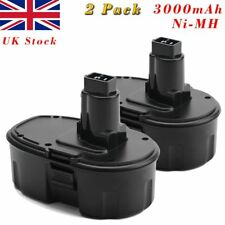 2x18V 3000mAh Ni-MH Battery For Dewalt DC9096 DE9095 DE9096 DE9098 DW9098 DE9503