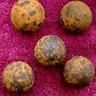 CIVIL WAR ARTIFACTS (5) MEDIUM CANNON BALL CANISTER SHOT (PORT HUDSON)