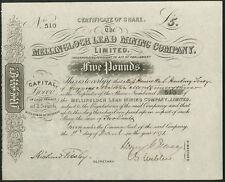 Mellingloch Lead Mining Co. Ltd., £5 share, 1871