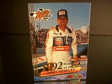 Rare Jimmy Hensley Wheels Rookie Thunder Rookie Of The Year 1992 Card #31