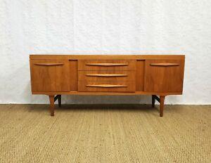Vintage mid century Scandinavian teak sideboard credenza 1960s