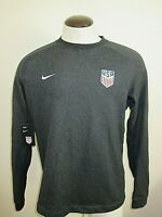 Nike Mens Team USA Soccer Crew Pullover Sweatshirt Grey Blue Size Large NWT