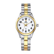 Meister Anker Armbanduhr Funk Uhr Metall poliert mattiert Diamant Echt Damen neu