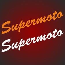 2 Supermoto Aufkleber 23cm x 5cm Motorrad Sticker smc 690 Motorrad passt für KTM